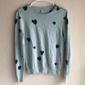 Halogen pullover heart sweater